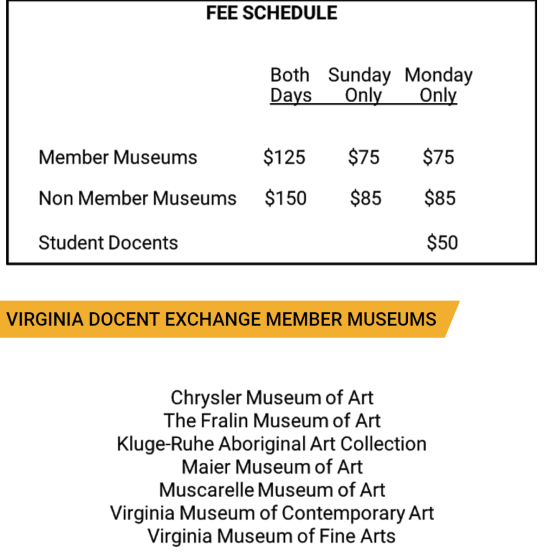 fee schedule_museums